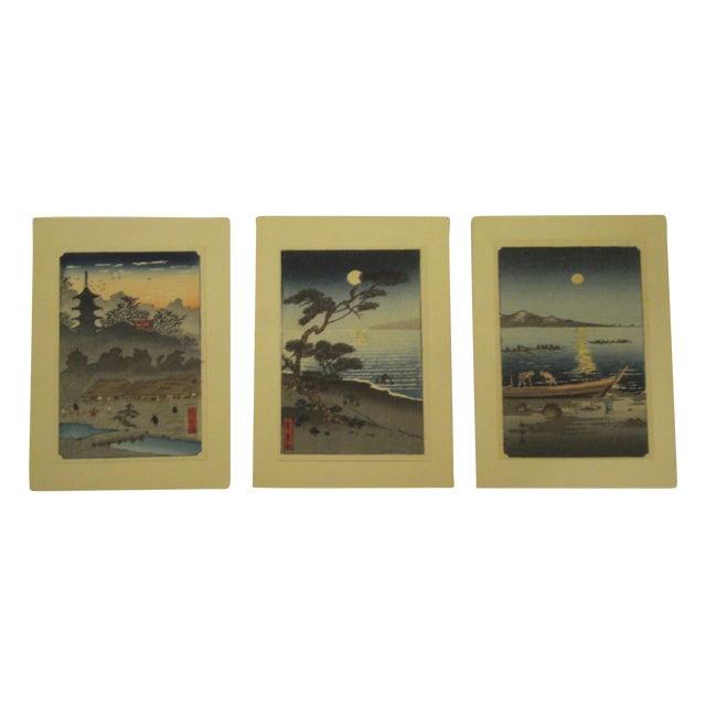 Japanese Block Prints - Set of 3 - Image 1 of 9