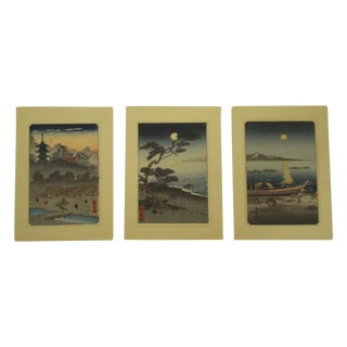 Japanese Block Prints - Set of 3