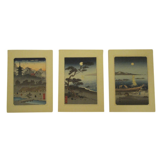 Image of Japanese Block Prints - Set of 3