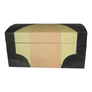 Maitland Smith Shagreen Art Deco Box