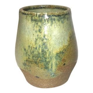 Green Glazed Ceramic Cup or Vase