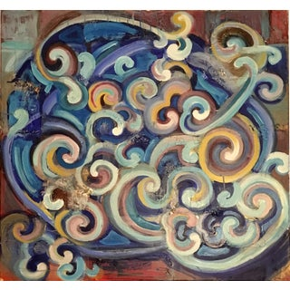 Contemporary Original Abstract Swirling Composition