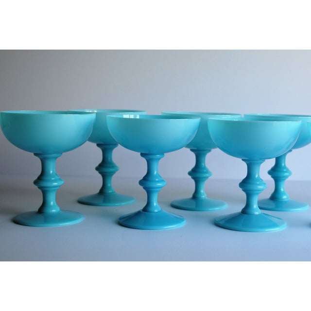 Aqua Antique Opaline Champagne Glasses - Set of 6 - Image 4 of 4