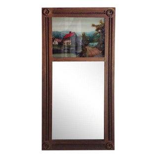 Antique Reverse Painting Mirror