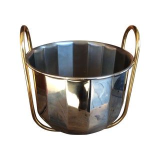 Vintage Silver & Brass Ice Bucket