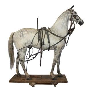 19th Century American Lifesize Wood and Zinc Harness Horse