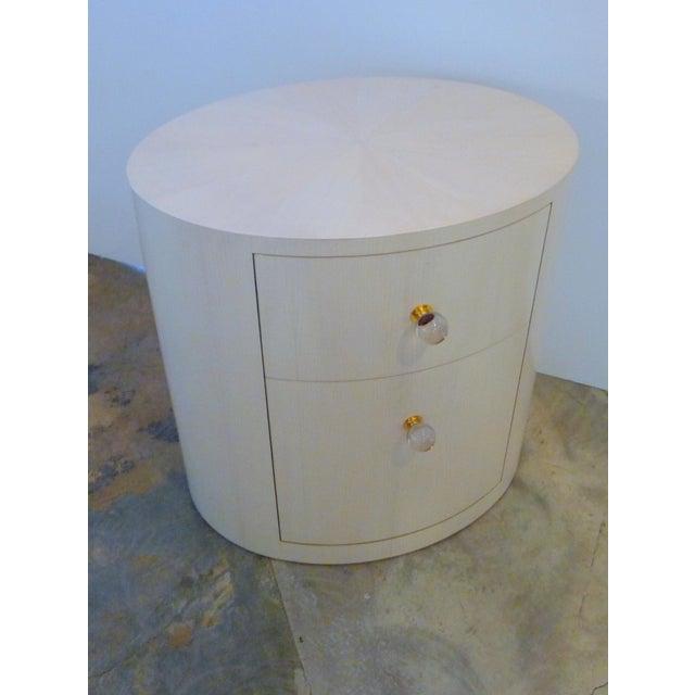 Italian-Inspired 1970S Style Oval Nightstand - Image 4 of 8