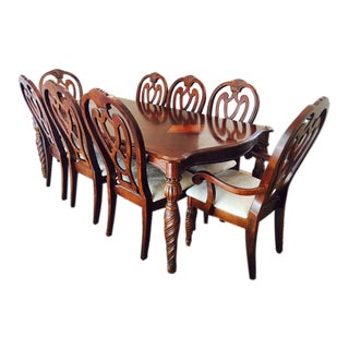 formal dining table chippendale chairs set of 9 1 200 84 0 w