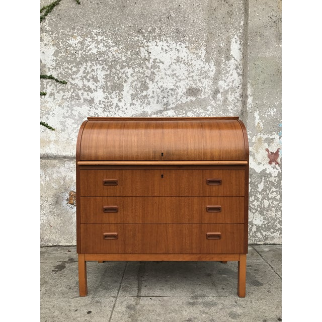 Teak Danish Modern Desk - Image 2 of 4