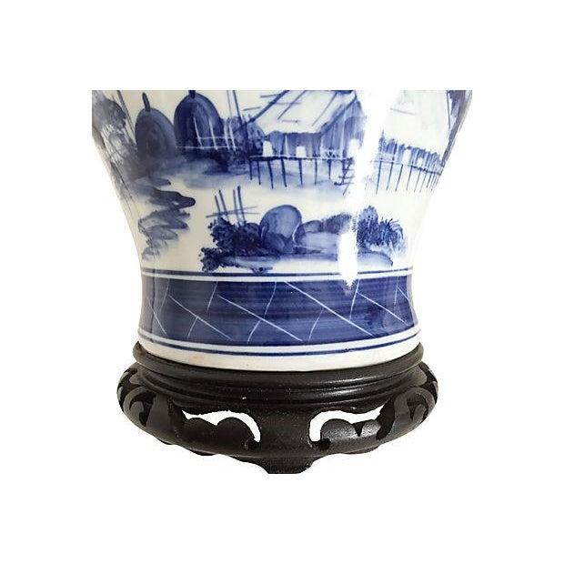 Blue & White Pagoda Ginger Jar Lamp - Image 3 of 5