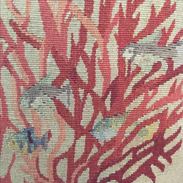 Coral & Fish Tapestry Pillow - Image 4 of 6