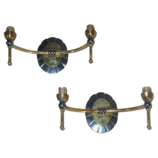 Pair of Modern Tradtional Double Arm Sconces