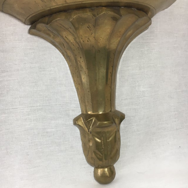 Brass Florentine Wall Sconce Shelf - A Pair - Image 7 of 11