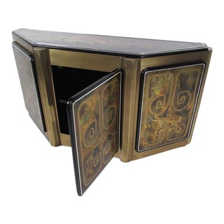 Bernhard Rohne Demilune Console Cabinet for Mastercraft
