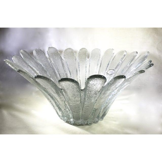 Blenko Floral Shape Textured Glass Bowl - Image 2 of 5