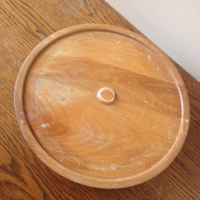 Image of Vintage Purinton Pottery Canister Lazy Susan