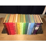 Image of Vintage Books in Rainbow Colors - Set of 15