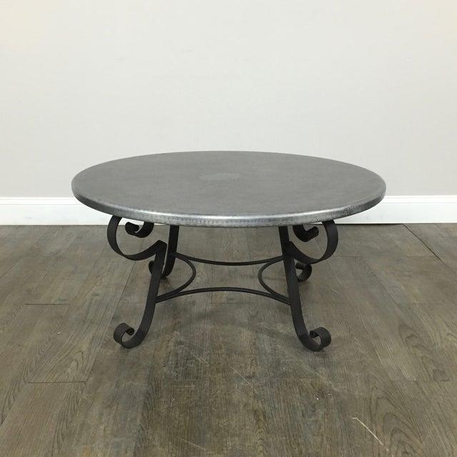 Zinc Top Coffee Table By Arhaus Chairish