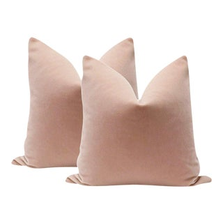 "20"" Blush Mohair Pillows - A Pair"