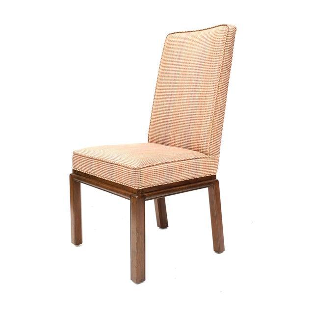 Upholstered High Back Dining Chair: Vintage Baker High Back Upholstered Dining Chairs