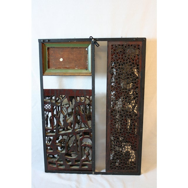 Chinese Window Screen, Wood & Metal - Image 6 of 6