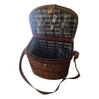Vintage 5-Piece Picnic Basket