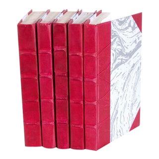 Parchment Collection Fuschia Books - Set of 5