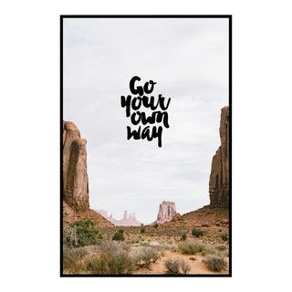"""Go Your Own Way"" Original Framed Photograph"