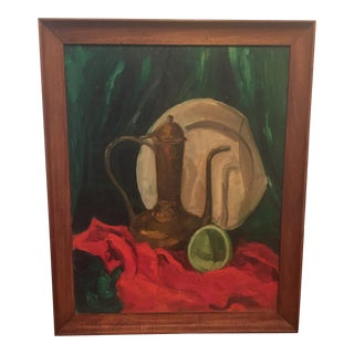 Vintage Still Life Painting Framed Art Signed