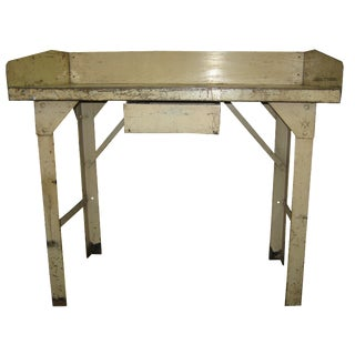 Industrial Metal Work Table