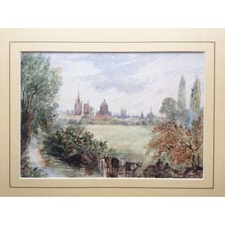 19th Century English Pastoral Watercolor Painting