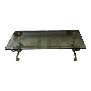 W. & J. Sloane Mid-Century Glass Coffee Table