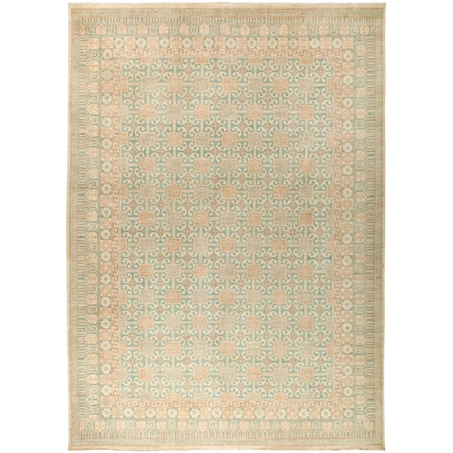 "New Khotan Hand-Knotted Rug - 9' 10"" X 13' 9"" - Image 1 of 3"
