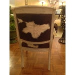 Image of Antique Cowhide Chair with Nailhead Accents