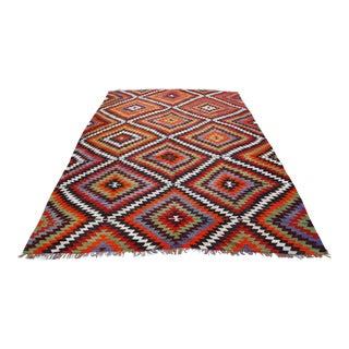 Antique Turkish Handmade Kilim Rug - 6′1″ × 10′6″