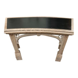 Carved Bleached Oak Neo-Gothic Console; English, circa 1890
