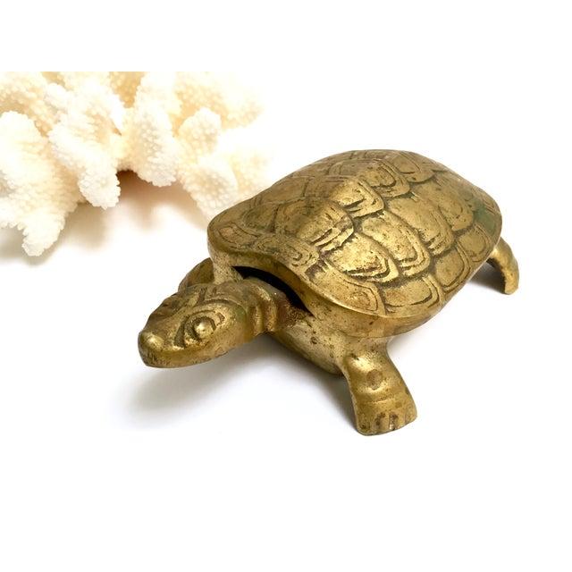 Antique Lidded Brass Turtle Trinket Box - Image 10 of 11