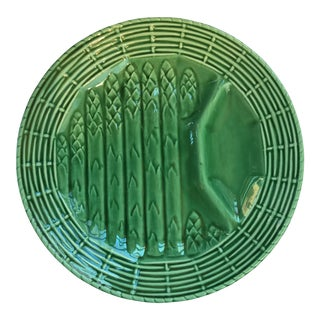 French Majolica Asparagus Plate