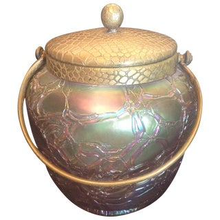 Rare Lavender Loetz Mimosa Tobacco Jar