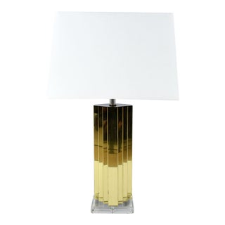 Brass and Lucite Table Lamp