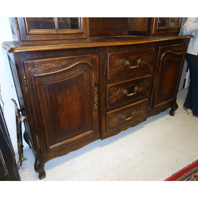 Image of Antique French Walnut China Cabinet