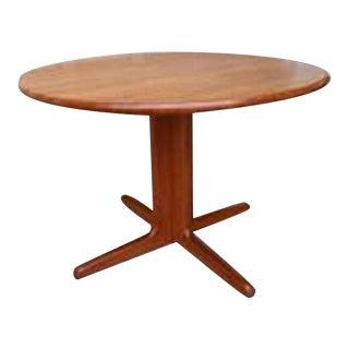 Danish Mid-Century Modern Teak Pedestal Dining Table