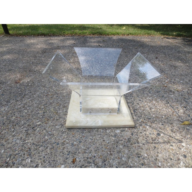 1970s Lucite and Glass Coffee Table - Image 7 of 7