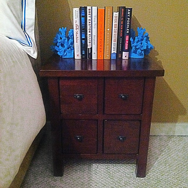 Mahogany Wood 4-Drawer Apothecary Side Table - Image 3 of 5