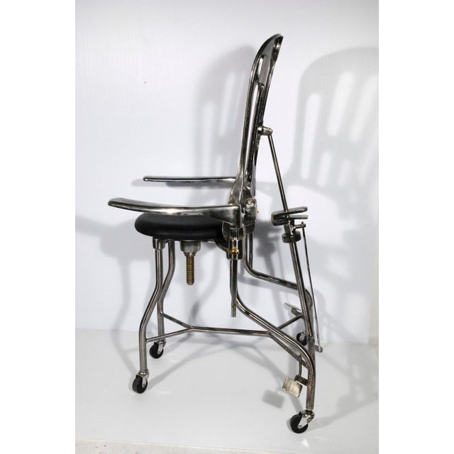 1930s Vintage Adjustable Dental Chair - Image 4 of 8