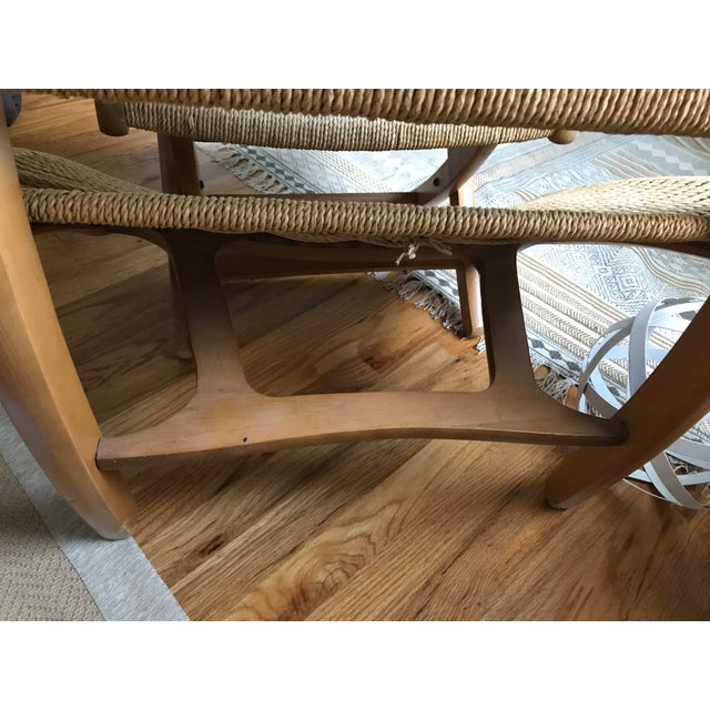 Hans Wegner Style Rope Lounge Chair & Ottoman - A Pair - Image 8 of 9