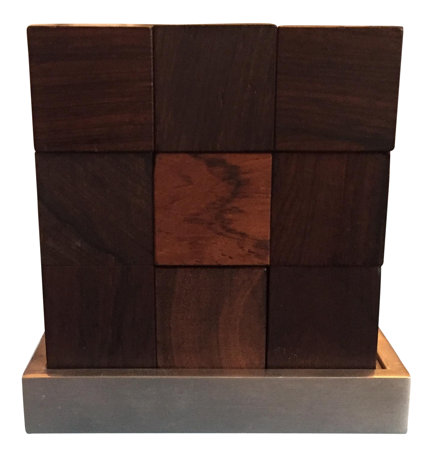 Mid Century Modern Danish Rosewood Teak Parker Brothers Cube Puzzle Game