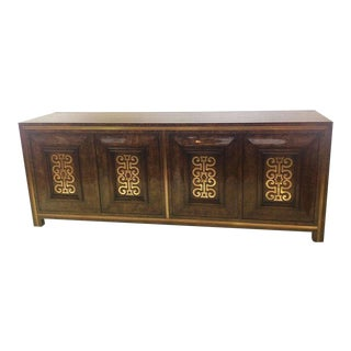 Mastercraft Burl and Brass Credenza