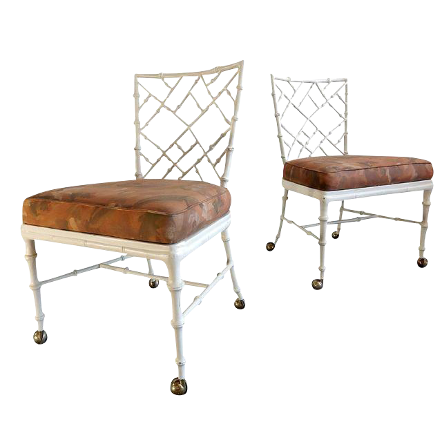 Nice Phyllis Morris Faux Bamboo Chairs   A Pair