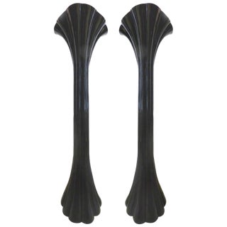 Sculptural Black Art Nouveau Revival Torchieres by Casa Bique of Spain - A Pair